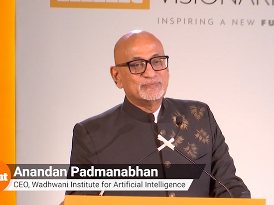 Dr. P. Anandan Offers Closing Remarks at the Mint Visionaries Event with Bill Gates